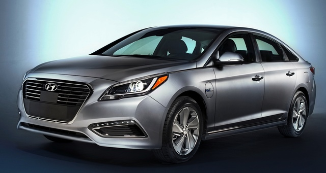 2016 Hyundai Sonata Plug-In Hybrid, Front-quarter view, exterior, manufacturer, gallery_worthy