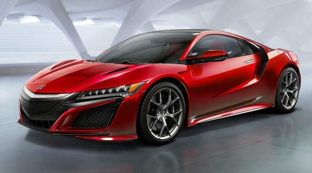 2017 Acura NSX, Front-quarter view, exterior, manufacturer, gallery_worthy