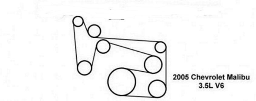 chevrolet malibu questions - serpentine belt diagram for 3 5 2004 chevy malibu
