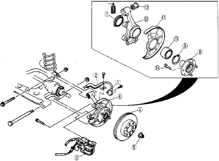 mazda mx 5 miata questions my 1999 miata was a rear axle sticking 2001 Honda Civic Ex Front End Diagram 2 answers