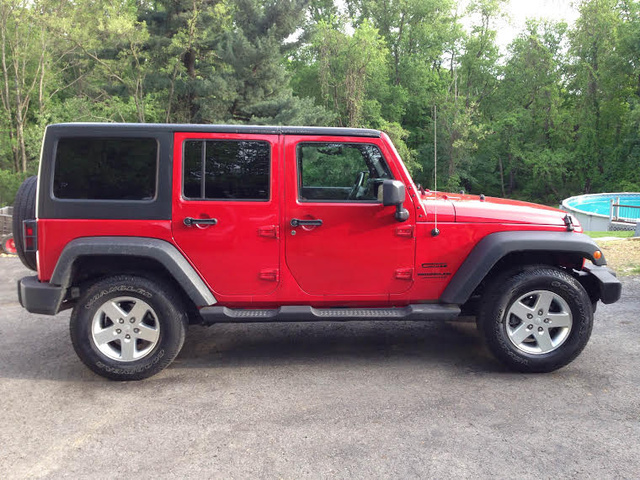 picture of 2014 jeep wrangler unlimited sport exterior. Cars Review. Best American Auto & Cars Review