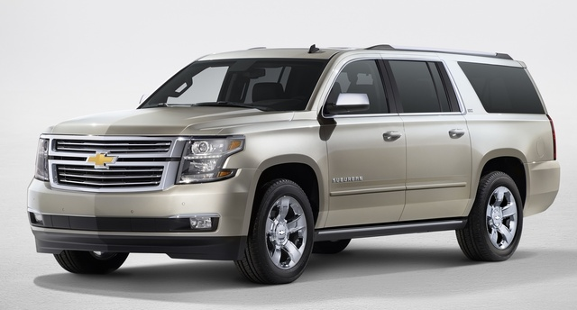 2016 Chevrolet Suburban, Front-quarter view. Copyright General Motors, exterior, manufacturer, gallery_worthy