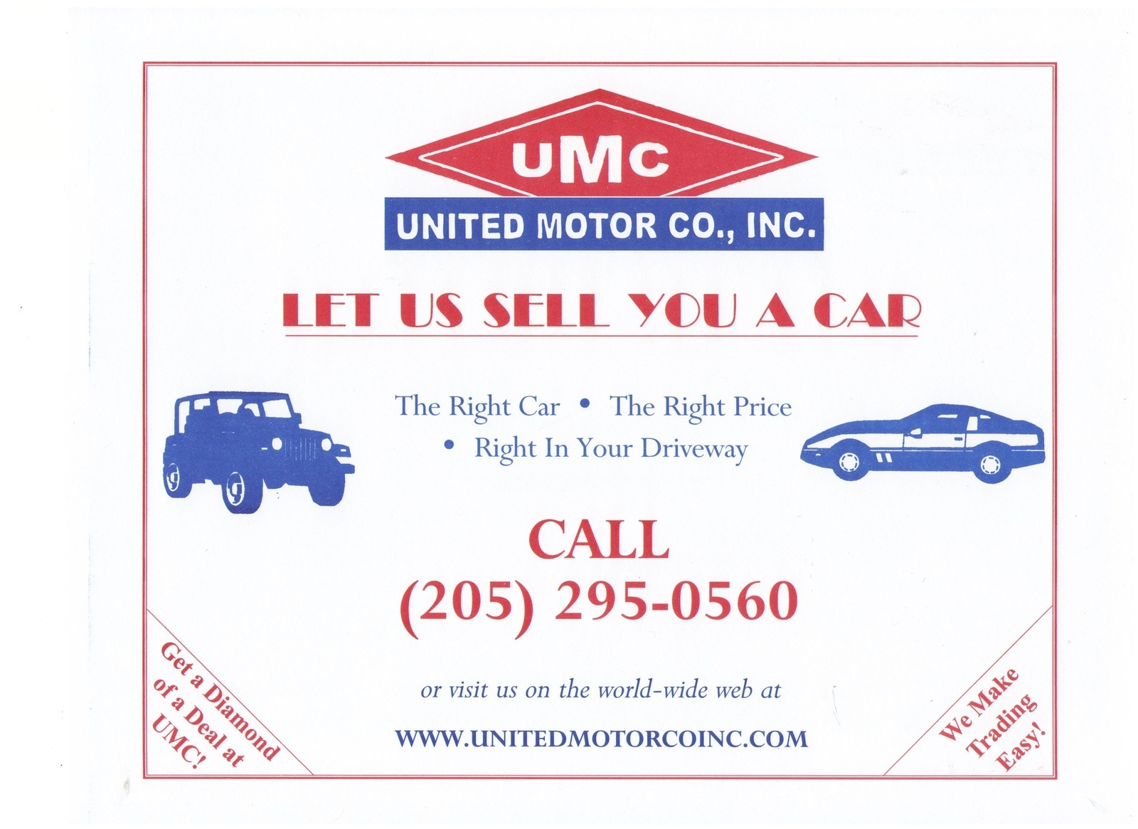 United Motor Co Inc Jasper Al Read Consumer Reviews Browse Used And New Cars For Sale