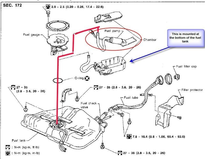nissan fuel pump relay diagram