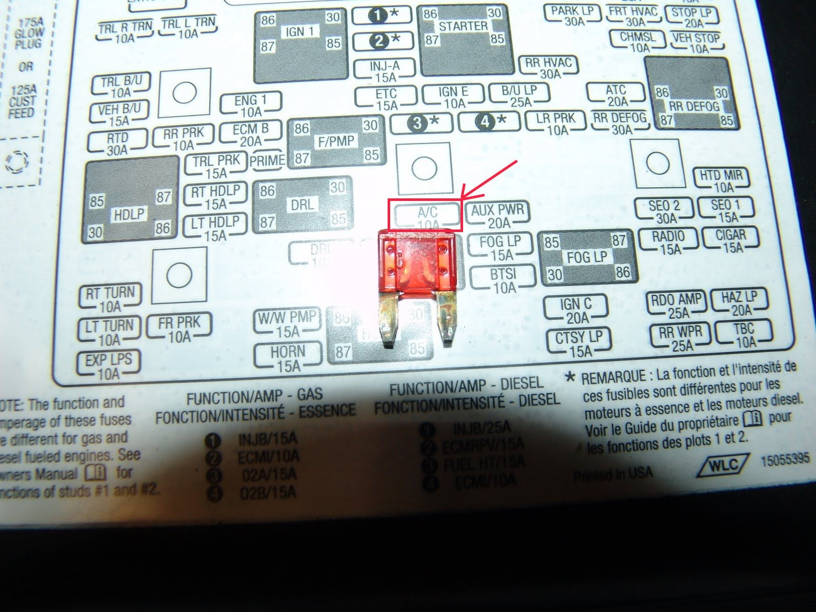 chevrolet astro questions is there a second a c fuse under the rh cargurus  com Chevy Tahoe Fuse Box Diagram 2003 S10 Fuse Diagram