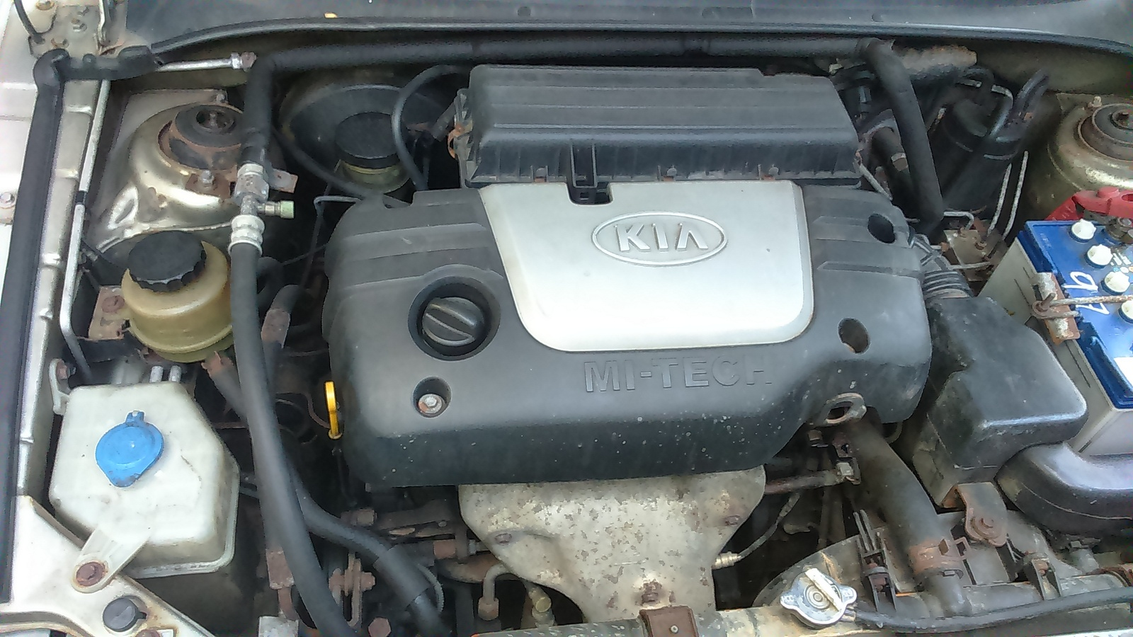 Kia Rio Questions - Black grease like substance kia rio ...