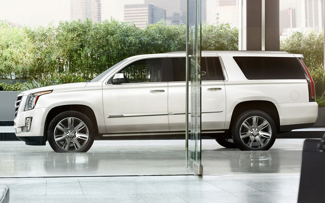 2016 Cadillac Escalade ESV, Profile view. Copyright General Motors, exterior, manufacturer, gallery_worthy