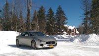 2014 Maserati Ghibli S AWD, Vermont 2015 snow covered playground, exterior