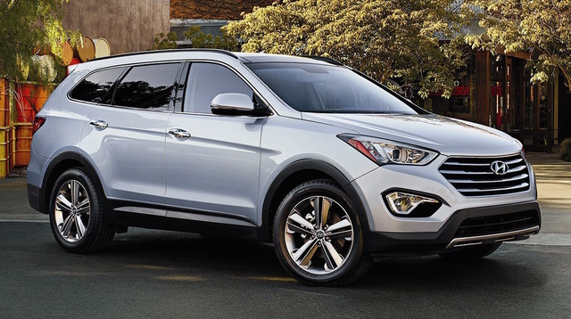 2016 Hyundai Santa Fe, Front-quarter view, exterior, manufacturer, gallery_worthy