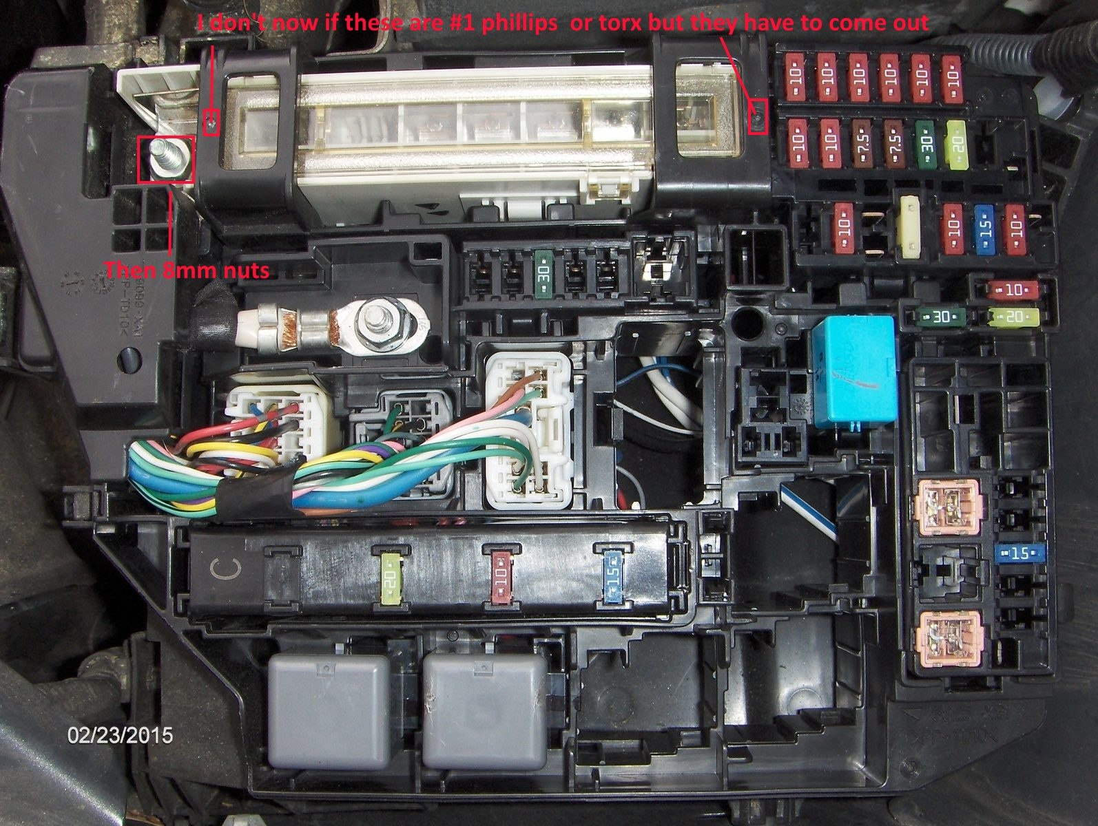 toyota corolla questions how do i change the alternator 2011 nissan quest fuse  box 2009 Nissan Altima Fuse Box Location