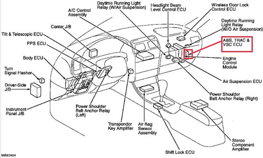 MB8e 14304 further AJ6d 10587 together with 1992 Lexus Ls400 Fuel Pump Relay Location furthermore Lexus V8 Wiring Diagrams as well 720624 2008 Lexus Rx 350 Knock Sensor Location. on lexus rx300 fuse box location