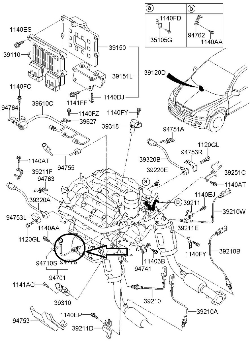 Kia Sedona Oil Pressure Switch Location on kia sedona fuse box diagram