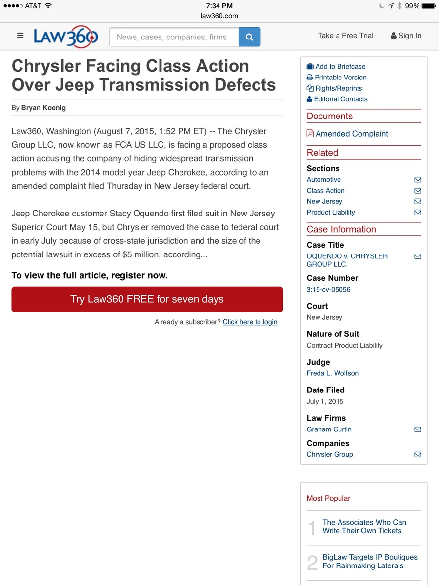 Jeep Cherokee Questions - Problems with 2015 Jeep Cherokee