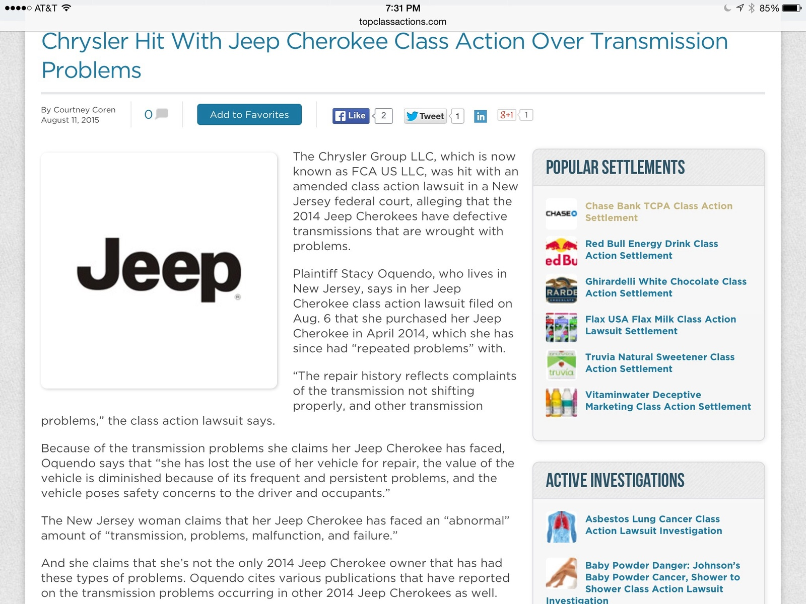 Jeep Cherokee Questions Problems with 2015 Jeep Cherokee Trail