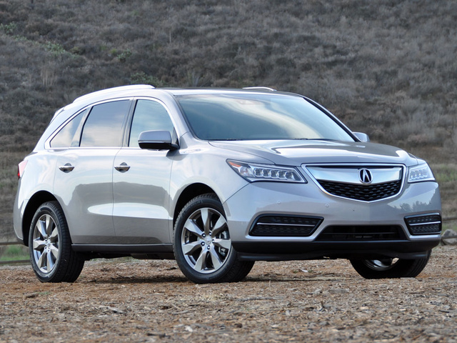 2016 Acura MDX AWD Advance + Entertainment Pkg, 2016 Acura MDX Advance Lunar Silver Metallic, exterior