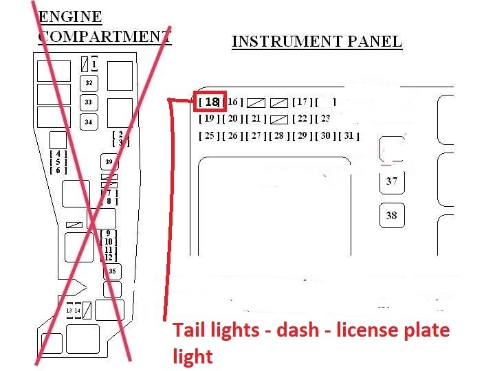 2003 toyota corolla fuse box diagram location manual 2003 toyota corolla questions 2004 corolla s dash board and tail on 2003 toyota corolla fuse box