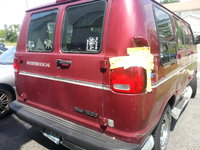 2000 Dodge Ram Van, Dented Taillight but works perfectly, exterior