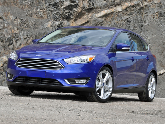 2015 Ford Focus Titanium Hatchback in Performance Blue with 18-inch Wheels