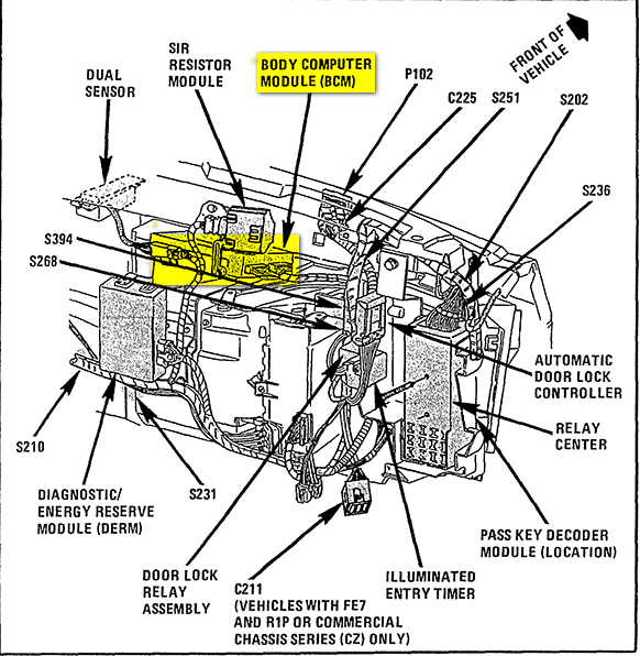 cadillac eldorado questions where is the bcm located on a 1995 rh cargurus com 1995 cadillac eldorado blower motor wiring diagram 1995 cadillac eldorado fuse box