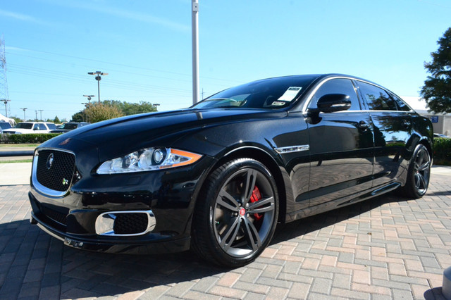2016 Jaguar XJR, Front-quarter view. Photo of 2015 model shown., exterior