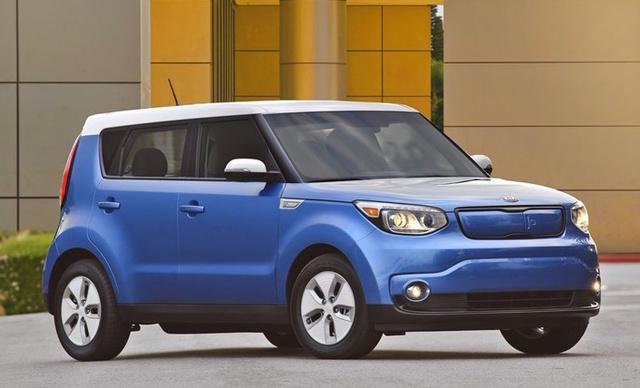 2016 Kia Soul EV, Front-quarter view., exterior, manufacturer, gallery_worthy