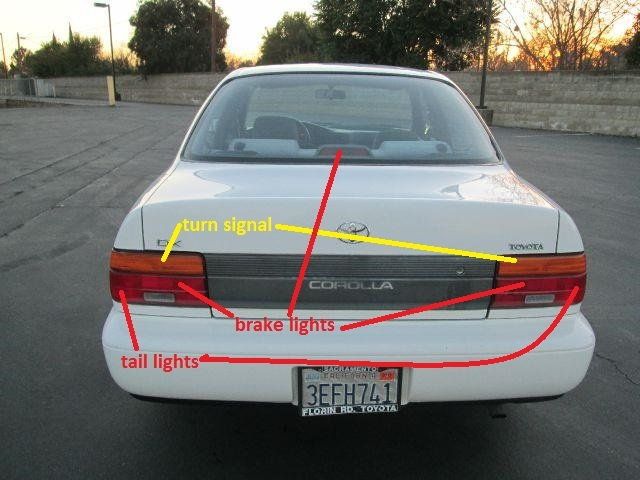 toyota corolla questions why do my brake lights come on. Black Bedroom Furniture Sets. Home Design Ideas