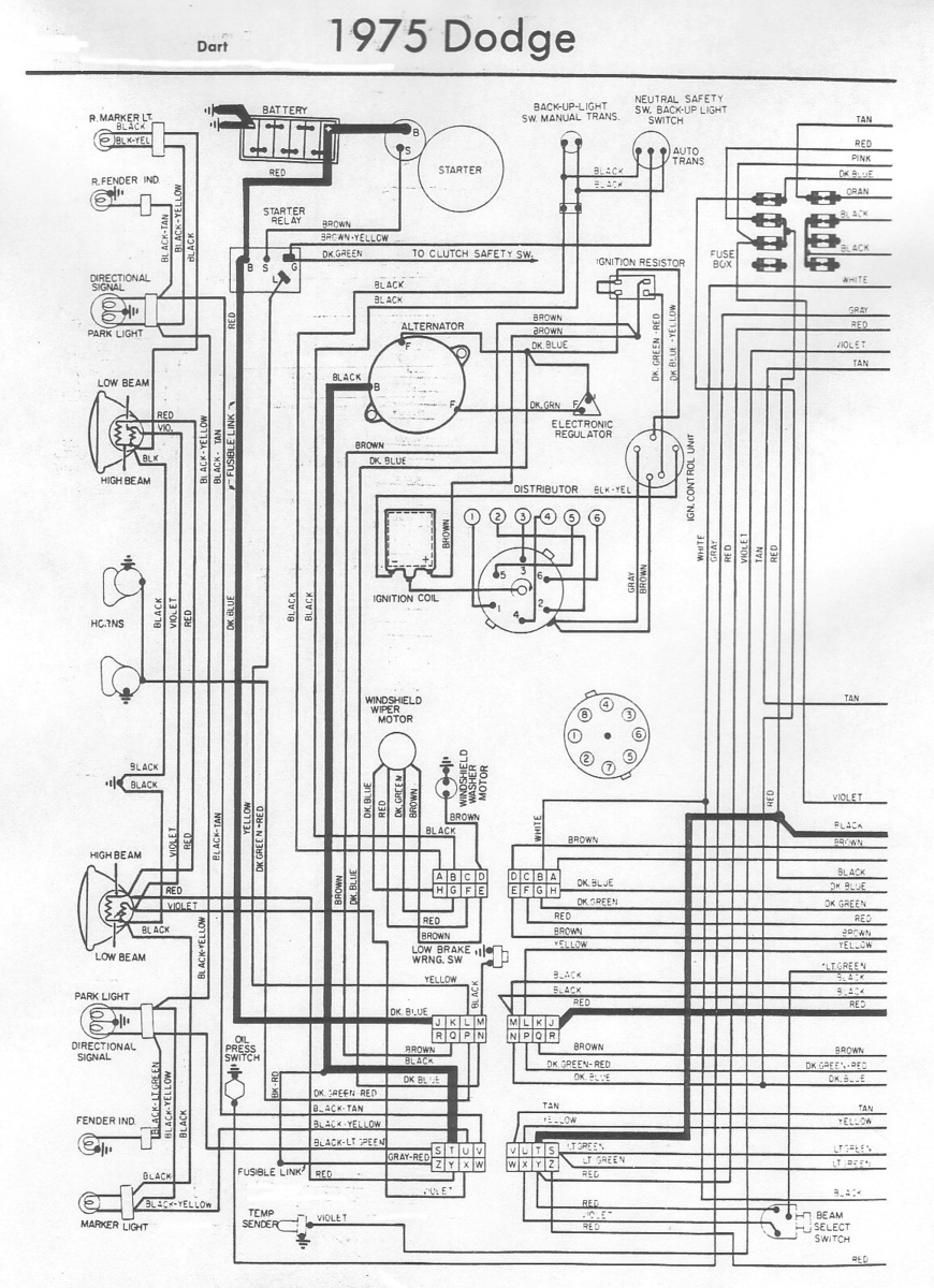 1973 dodge dart wiring diagram 30 wiring diagram images wiring diagrams  gsmx co 1974 Dodge Dart Fuse Panel 1974 dodge charger wiring harness