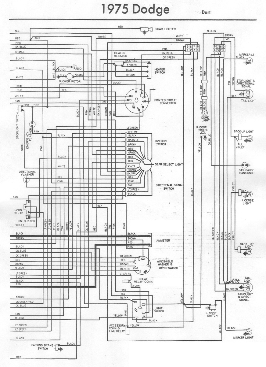 dodge dart questions - power cable to the radio in my 75 ... 1973 dodge dart sport wiring diagram