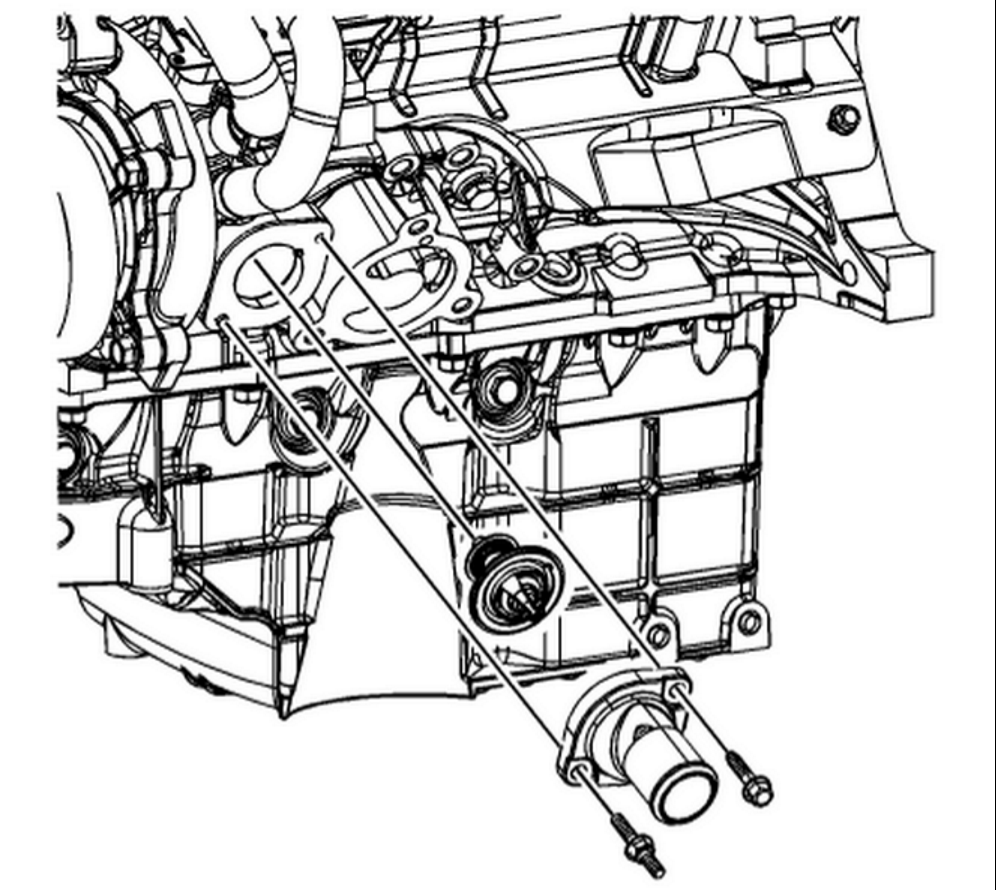 Chevrolet Impala Questions Where Is The Thermostat Exactly Located Gm 3500 Engine Belt Diagram 3 Different Sizes Please Specify Which For Example This 35 Location