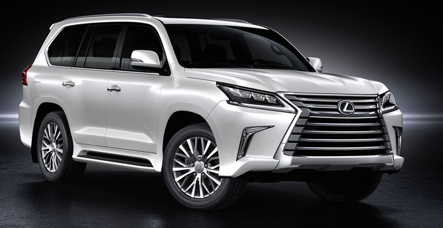 2016 Lexus LX 570, Front-quarter view., exterior, manufacturer, gallery_worthy