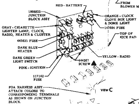 1957 Chevy Bel Air Fuse Box Diagram on chevy impala fuse box