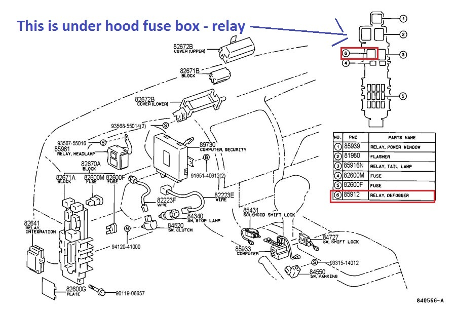 97 Toyota Corolla Fuel Pump Relay Location on 2011 prius fuse box diagram