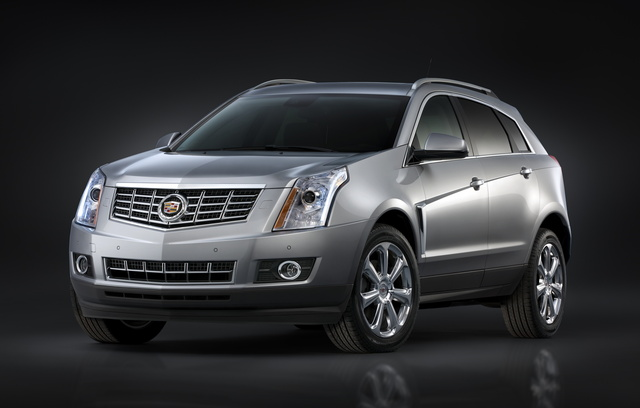 2016 Cadillac SRX, Front-quarter view. Copyright General Motors., exterior, manufacturer, gallery_worthy
