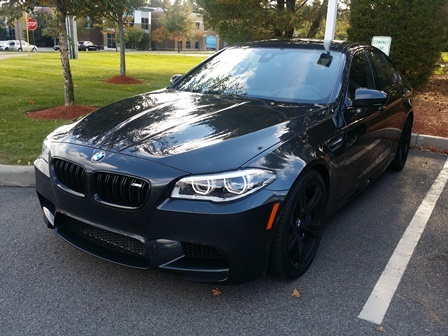2016 BMW M5, Front-quarter view., exterior