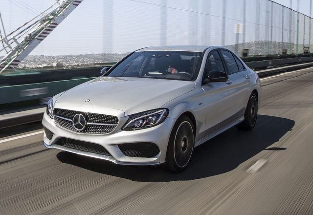 2016 Mercedes-Benz C-Class, Front-quarter view., exterior, manufacturer, gallery_worthy