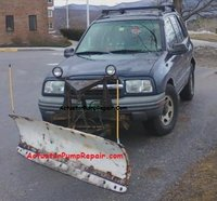2000 Chevrolet Tracker Base 4WD, 99 -04 Plow Option not available new or aftermarket. I made this fit my 2000 Tracker with Engine assisted Hydraulic Pump. Plows  great..