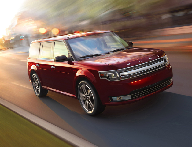 2016 Ford Flex, Front-quarter view., exterior, manufacturer, gallery_worthy
