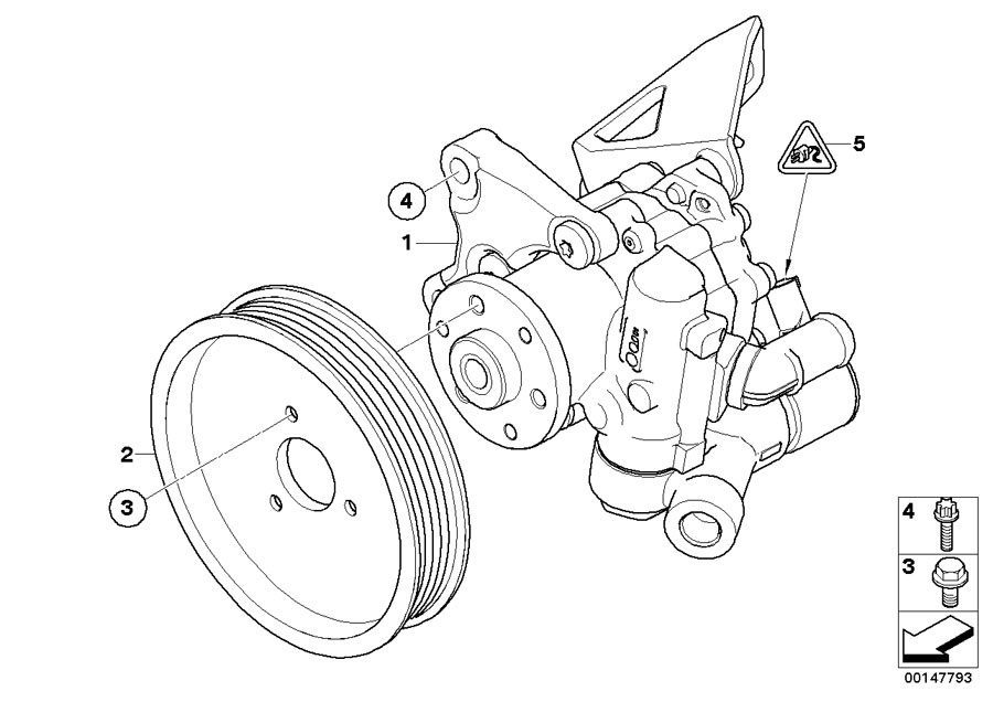 2003 Bmw 325i Power Steering Pump Diagram