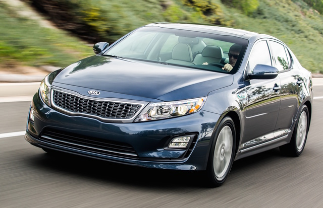 2016 Kia Optima Hybrid, Front-quarter view, exterior, manufacturer, gallery_worthy