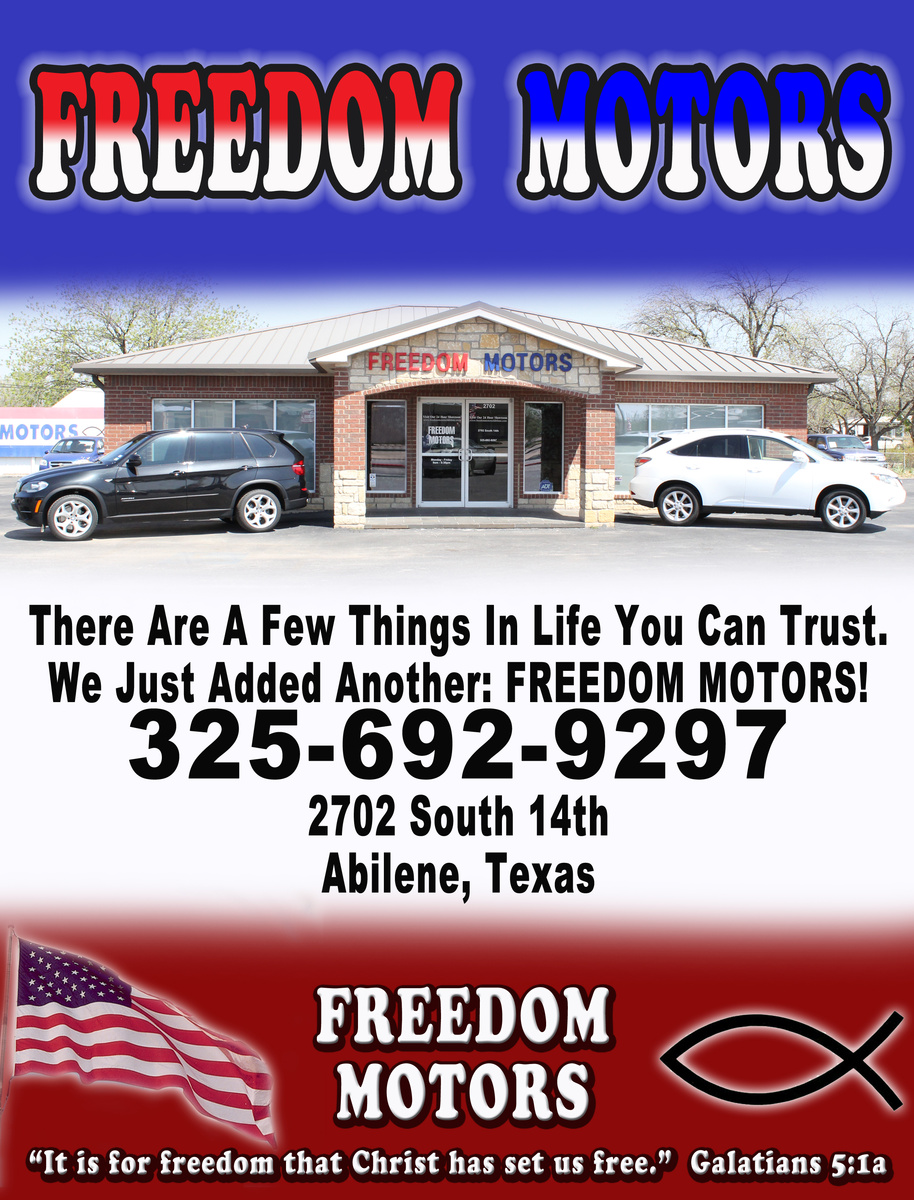 Freedom motors abilene tx read consumer reviews browse used and new cars for sale Freedom motors reviews