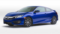 2016 Honda Civic Coupe, Front-quarter view, exterior, manufacturer