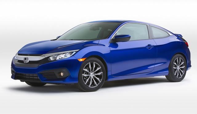 2016 Honda Civic Coupe, Front-quarter view, exterior, manufacturer, gallery_worthy
