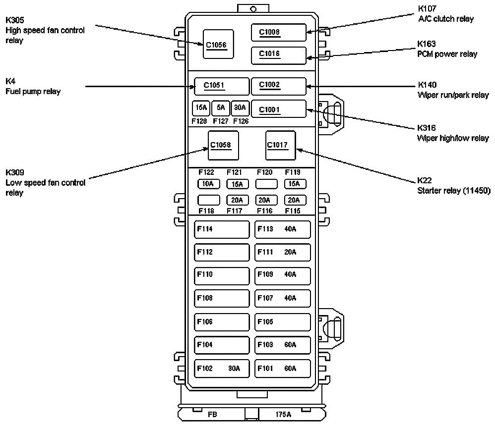 S10 Wiring Diagram also Discussion T46511 ds694061 in addition 05 Ford Five Hundred Fuse Box Diagram besides 1995 Lincoln Mark Viii Fuse Box together with 93 Ford Ranger Starter Location. on 2000 ford mustang wiper fuse location