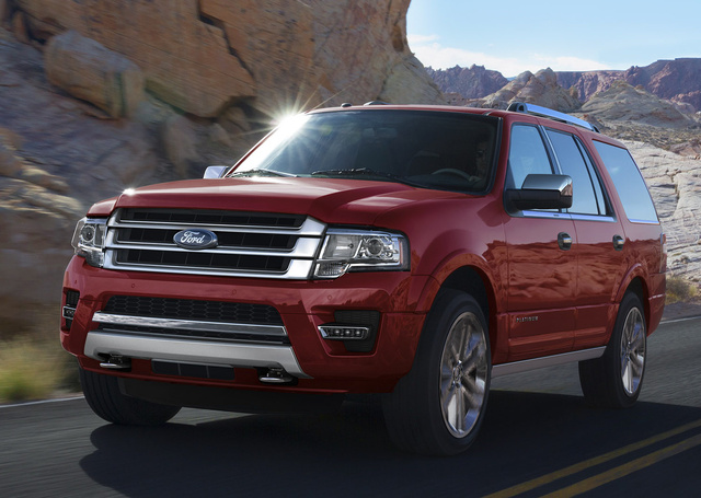2016 Ford Expedition, Front-quarter view, exterior, manufacturer