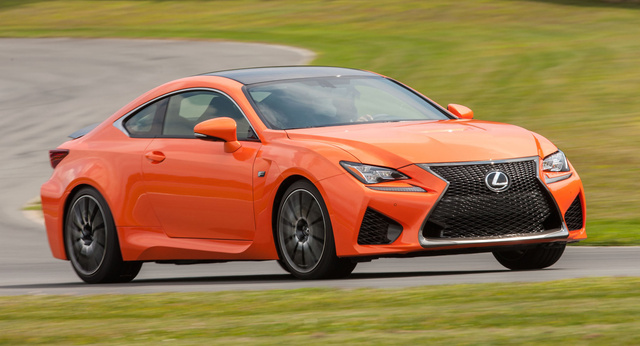 2016 Lexus RC F, Front-quarter view., exterior, manufacturer, gallery_worthy