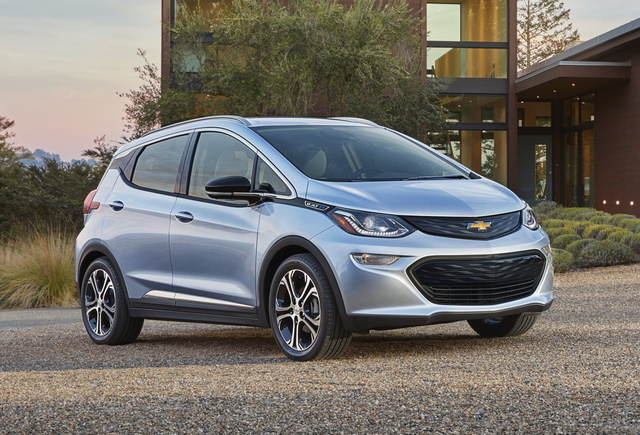 2017 Chevrolet Bolt EV, Front-quarter view. Copyright General Motors., gallery_worthy