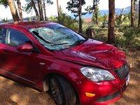 2012 Suzuki Kizashi Sport GTS AWD, Our previous 20112 Kizashi after encounter with elk, exterior