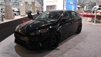 2016 Ford Focus RS front-quarter view, taken at the 2016 New England International Auto Show, exterior