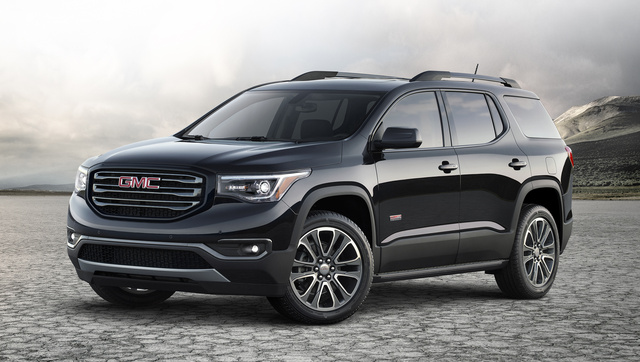 2017 GMC Acadia, Front-quarter view. Copyright General Motors., gallery_worthy