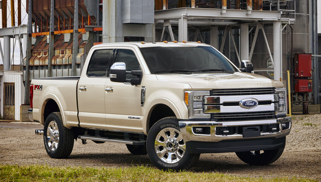 2017 Ford F-350 Super Duty, Front-quarter view., exterior, manufacturer